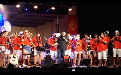 Ranbal et Sagan sur scène avec Nadau pour l'encantada